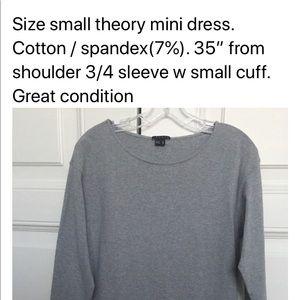 Theory grey jersey dress